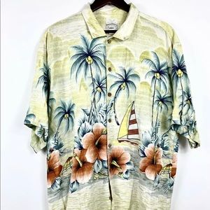 Tommy Bahama RELAX Camp Shirt Floral Hawaiian silk